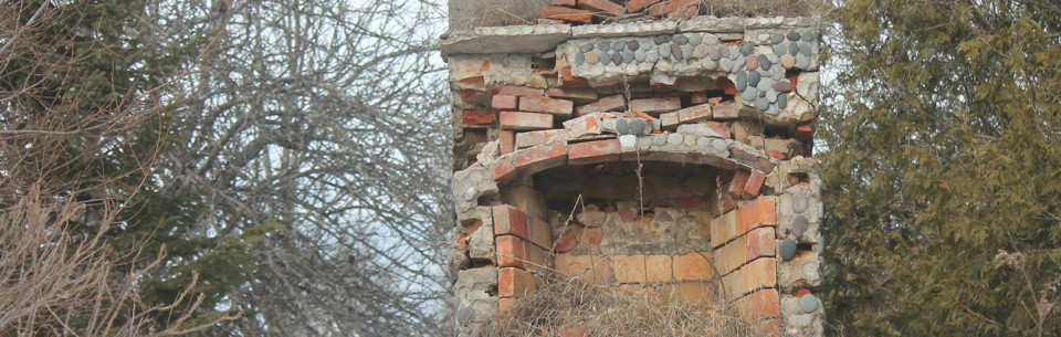 Crumbling Fireplace